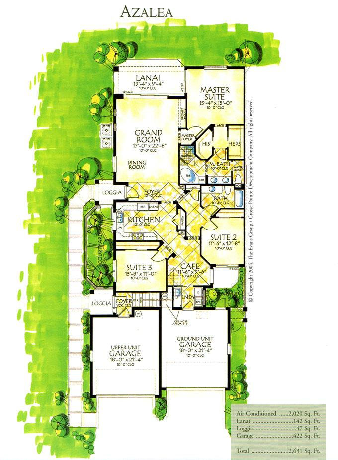 Jim petruska tarpon point marina tarpon gardens floor for Garden home plans
