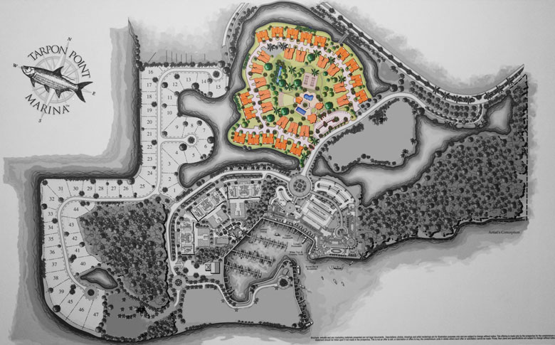Tarpon Gardens Siteplan at Tarpon Point Marina